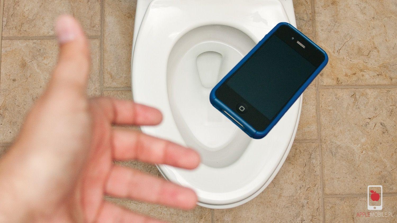 iPhone wpadł do kibla i został zalany. Naprawa iPhone po zalaniu w APPLEMOBILE.PL