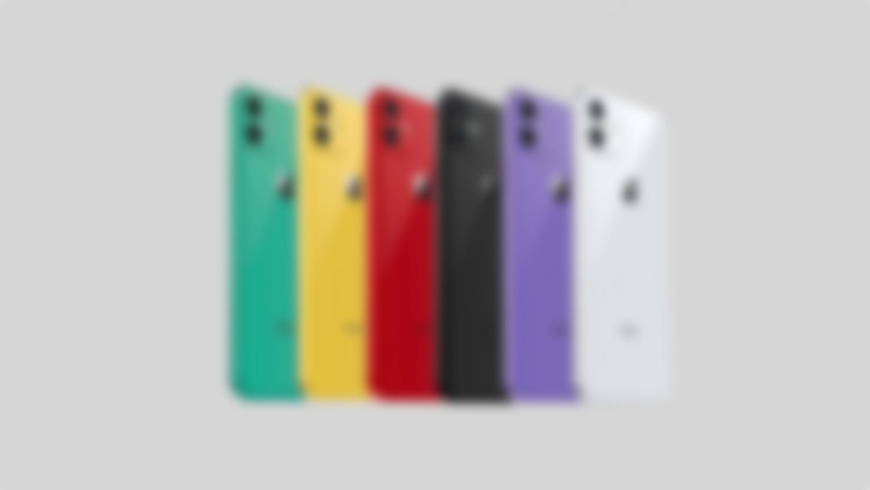 Grafika przedstawiająca nowe kolory iPhone Xr!