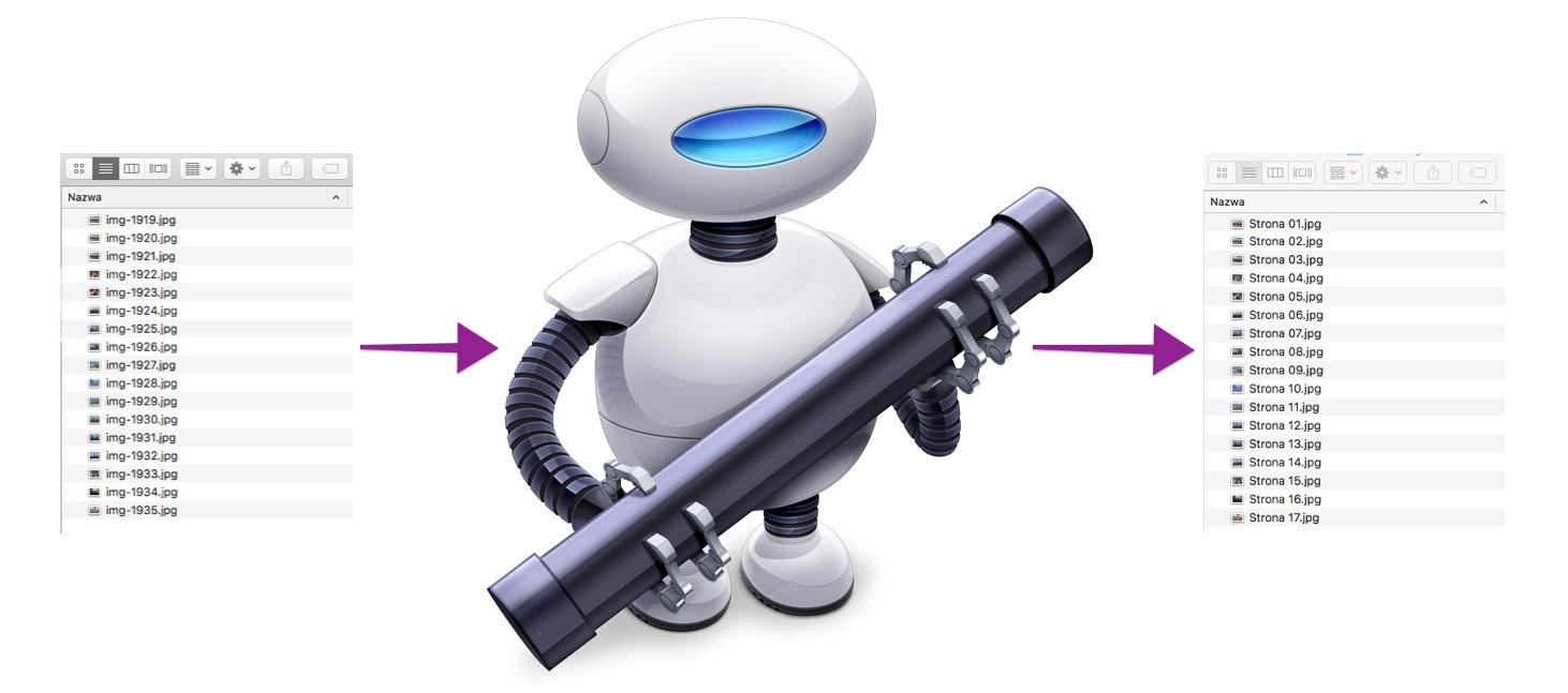 Jak zmienić format i rozdzielczość wielu plików przy użyciu Automatora