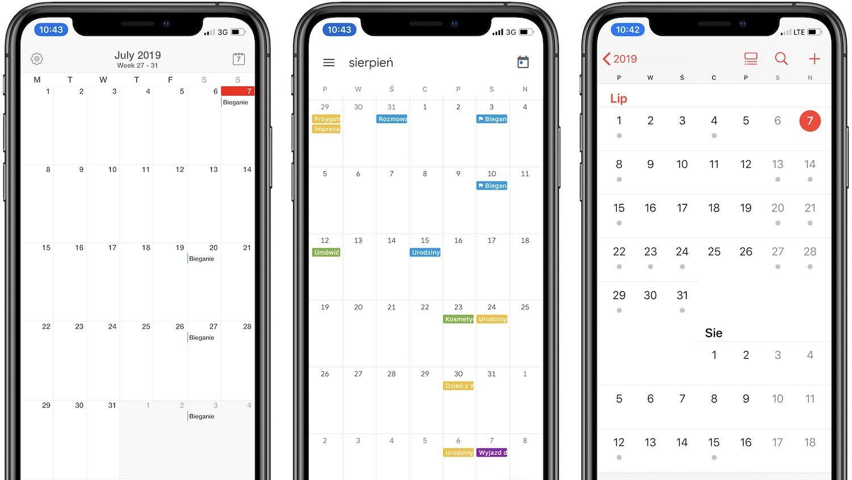 Kalendarze na iOS – Recenzja najpopularniejszych rozwiązań.