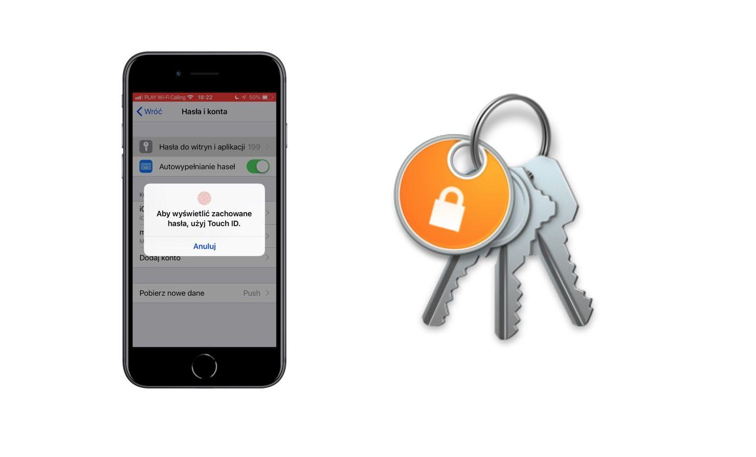 Jak używać Pęku kluczy iCloud na iPhone