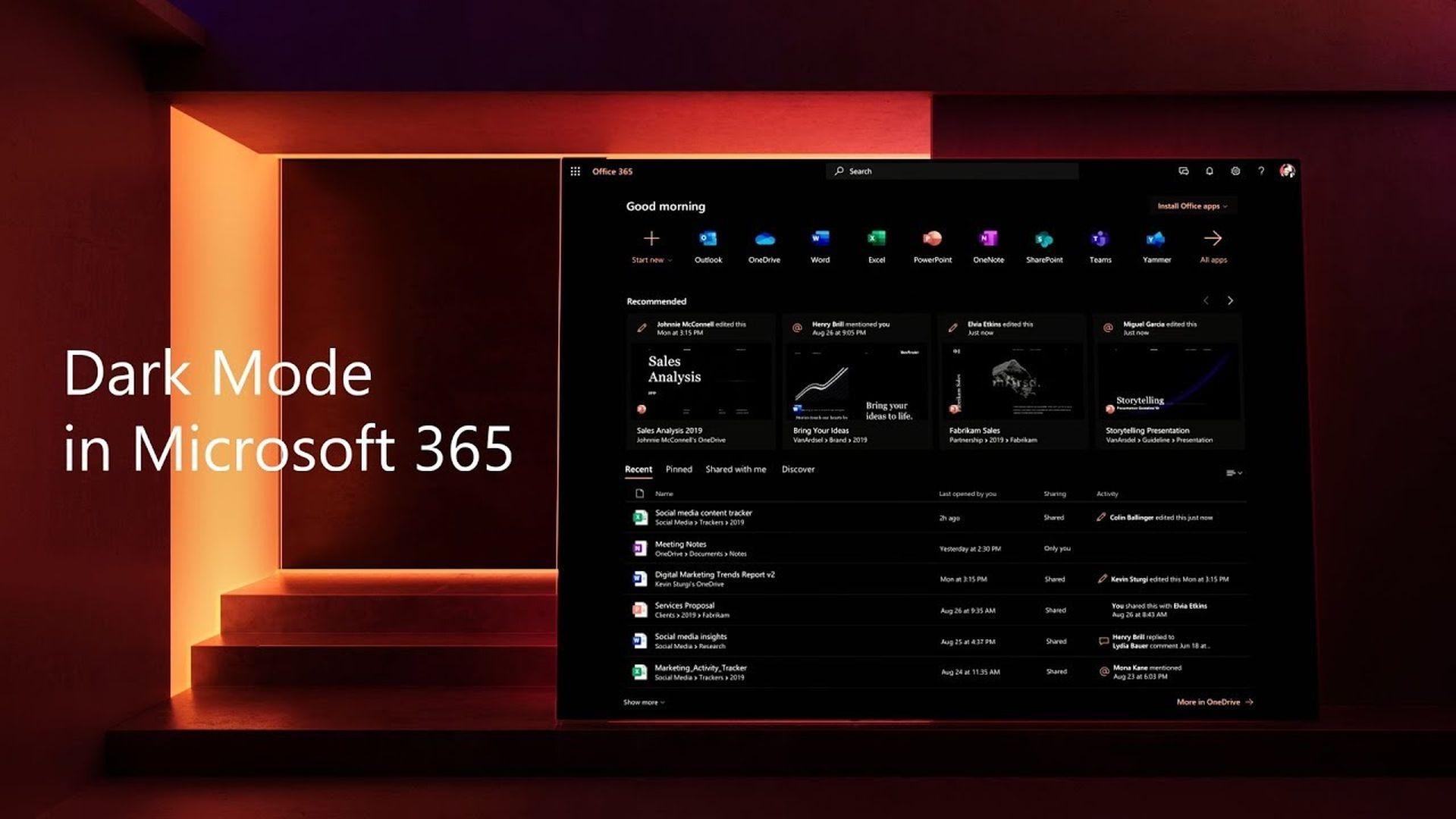 Microsoft doda tryb ciemny do aplikacji Office dla systemu iOS