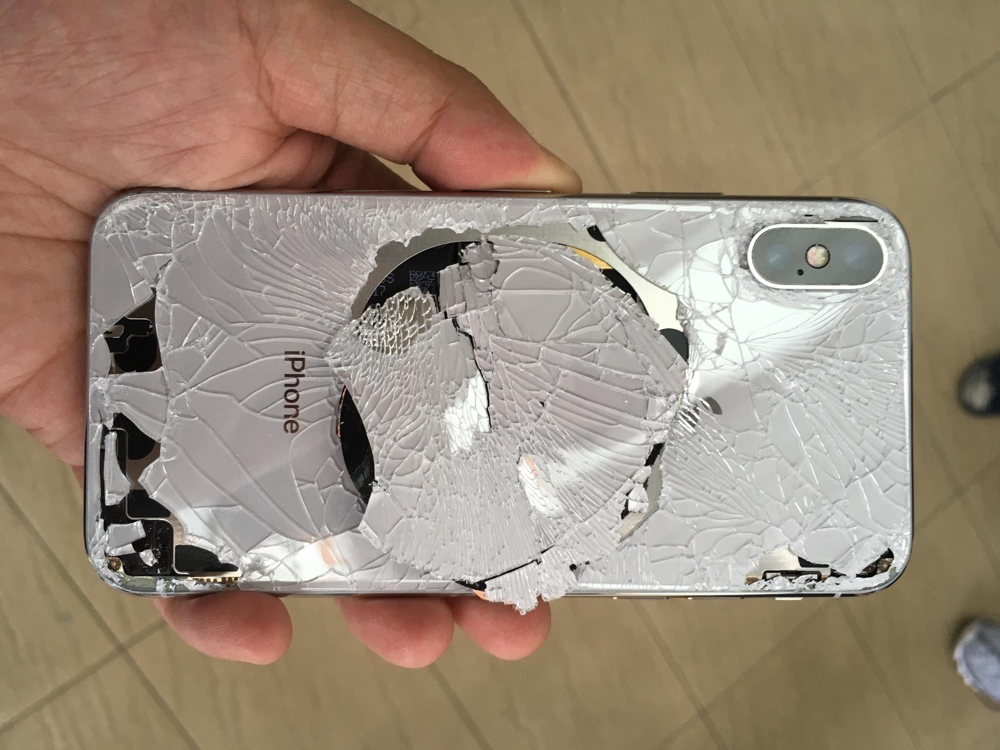 Naprawa zbita szybka obudowa klapka w iPhone X XS XS Max Xr 8 8+ | Naprawa iPhone Serwis Apple APPLEMOBILE.PL