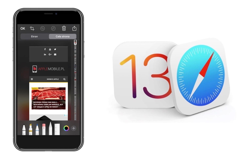 Jak zrobić zrzut całej strony internetowej przy pomocy Safari w iOS 13