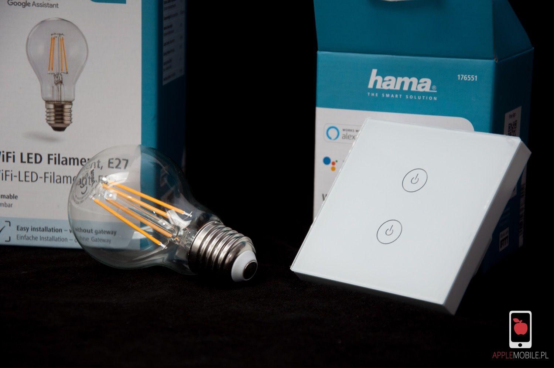 Recenzja HAMA The Smart Solution – recenzja inteligentnej żarówki i dotykowego włącznika dopuszkowego.