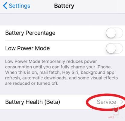 SERWIS w kondycji baterii oznacza, że musisz pilnie wymienić baterię w iphone