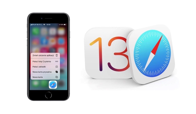 Nowe funkcje w Safari dla iOS 13