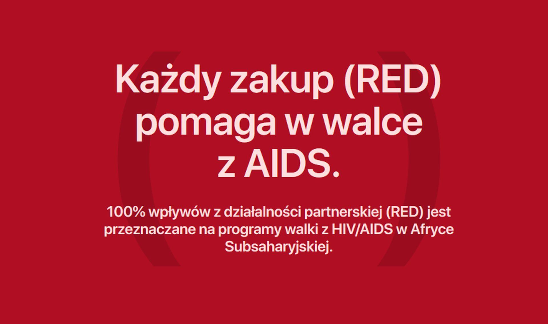 Kolejne wsparcie inicjatywy (Red) przez firmę Apple