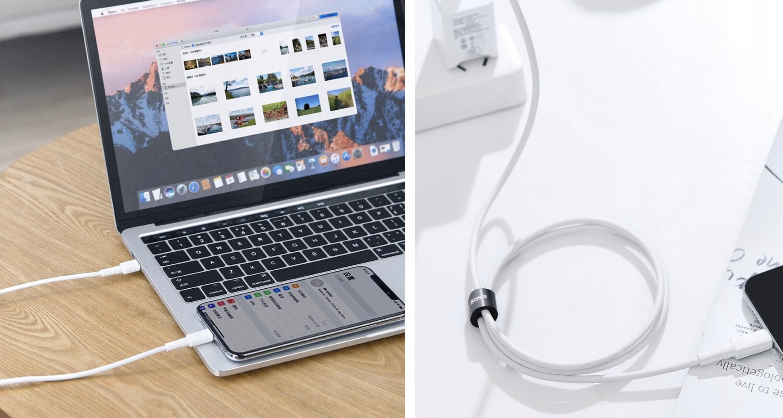 Kabel do szybkiego ładowania iPhone od Baseus.