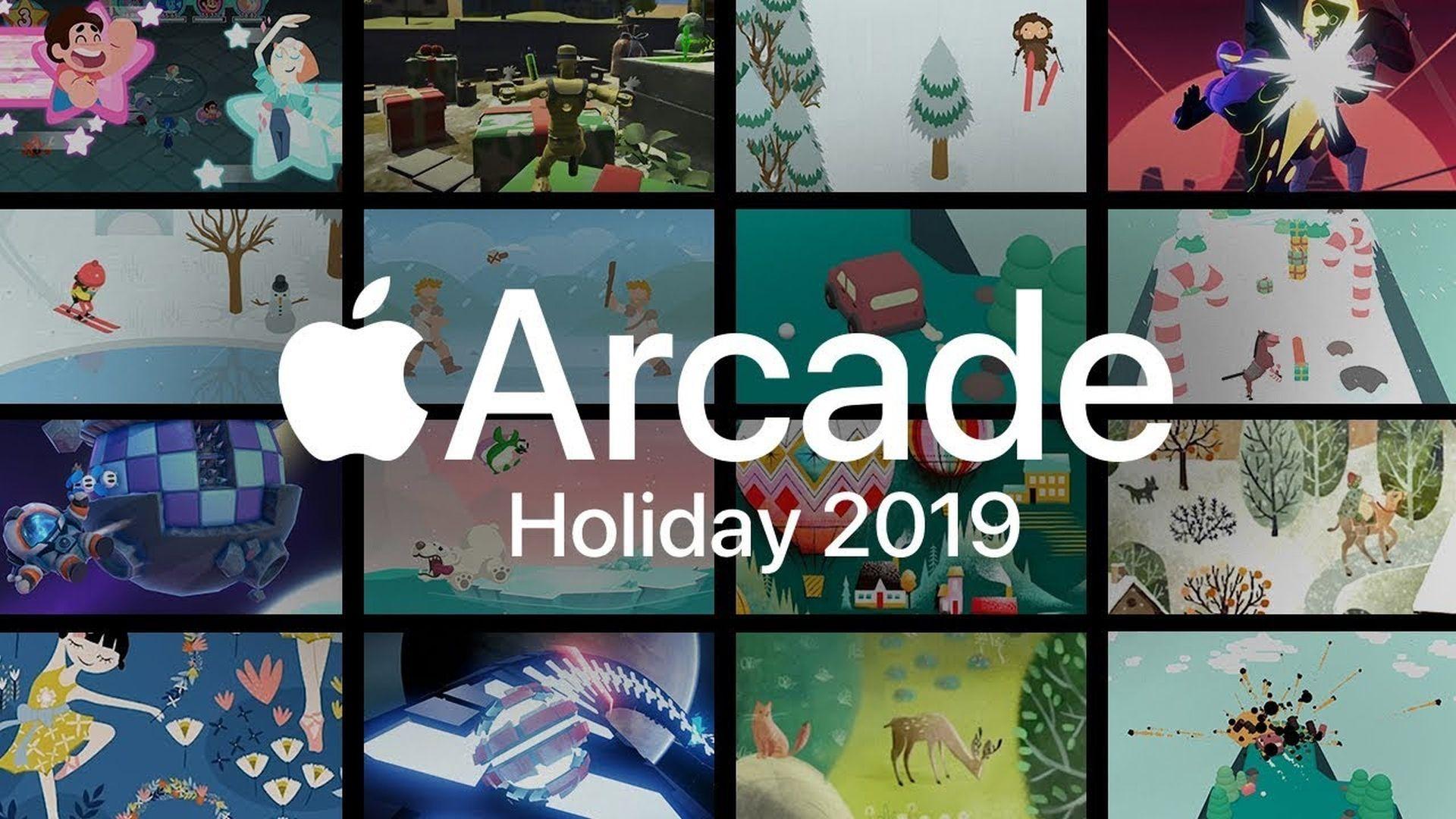 Reklama idealnych gier z Apple Arcade na okres Świąteczny