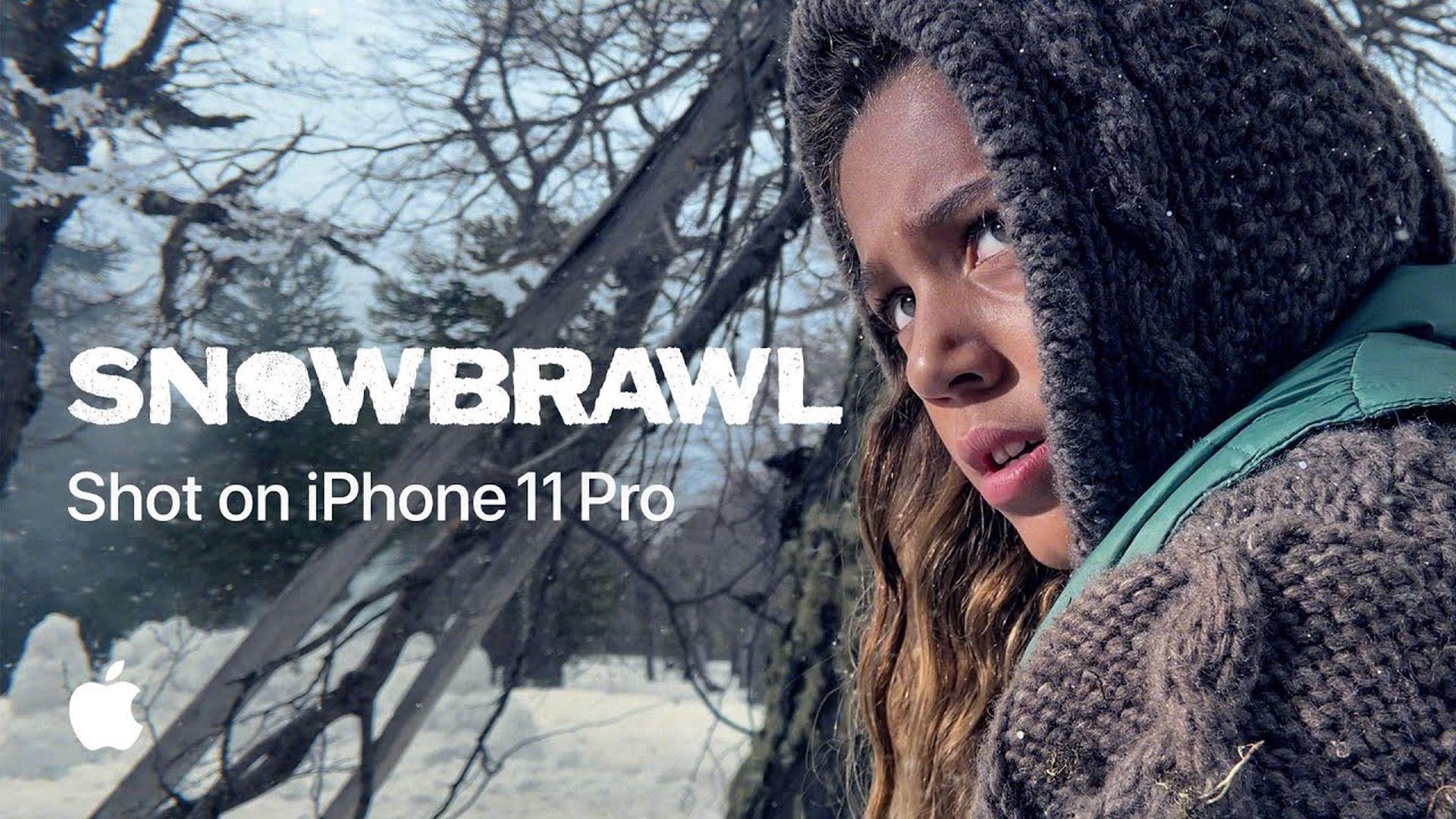 Shot on iPhone 11 Pro: Bitwa na śnieżki przedstawiona przez Apple