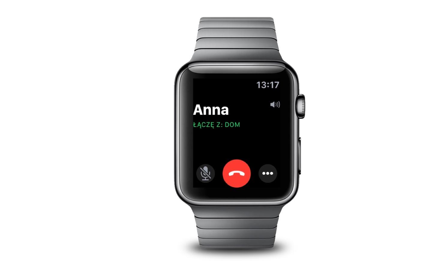 Jak dzwonić przy użyciu Apple Watch