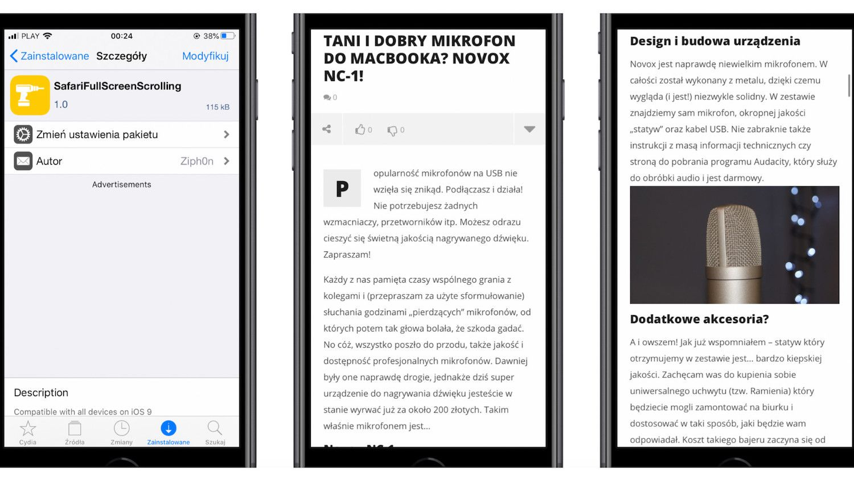 #48 Wtyczka tygodnia – Shy Page Dots, SafariFullScreenScrolling