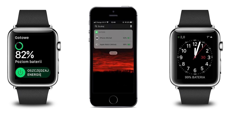 Jak sprawdzić stan naładowania baterii w Apple Watch