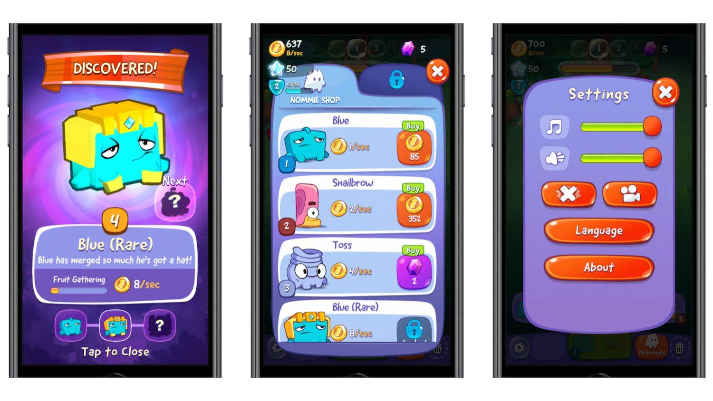 Przegląd relaksujących gier logicznych ze stworkiem Om Nom z App Store