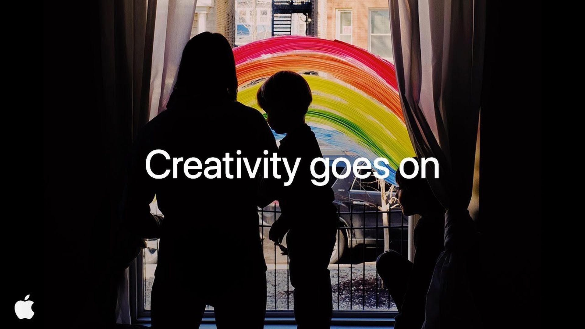 """Nowa reklama od firmy Apple zatytułowana """"Creativity goes on"""""""