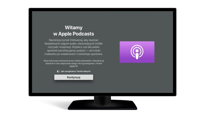 Jak słuchać podcastów na Apple TV