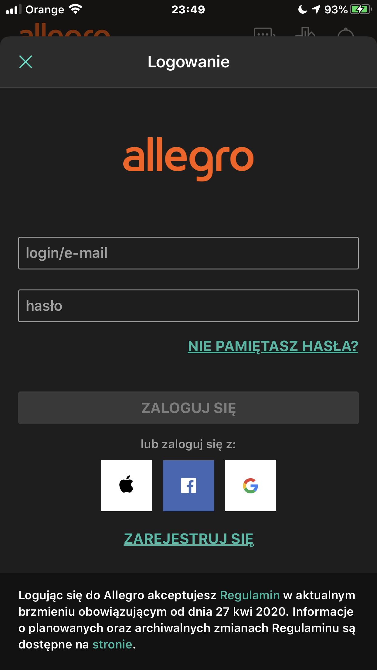 Funkcja Zaloguj Sie Z Apple Dostepna W Aplikacjach Allegro Oraz Olx