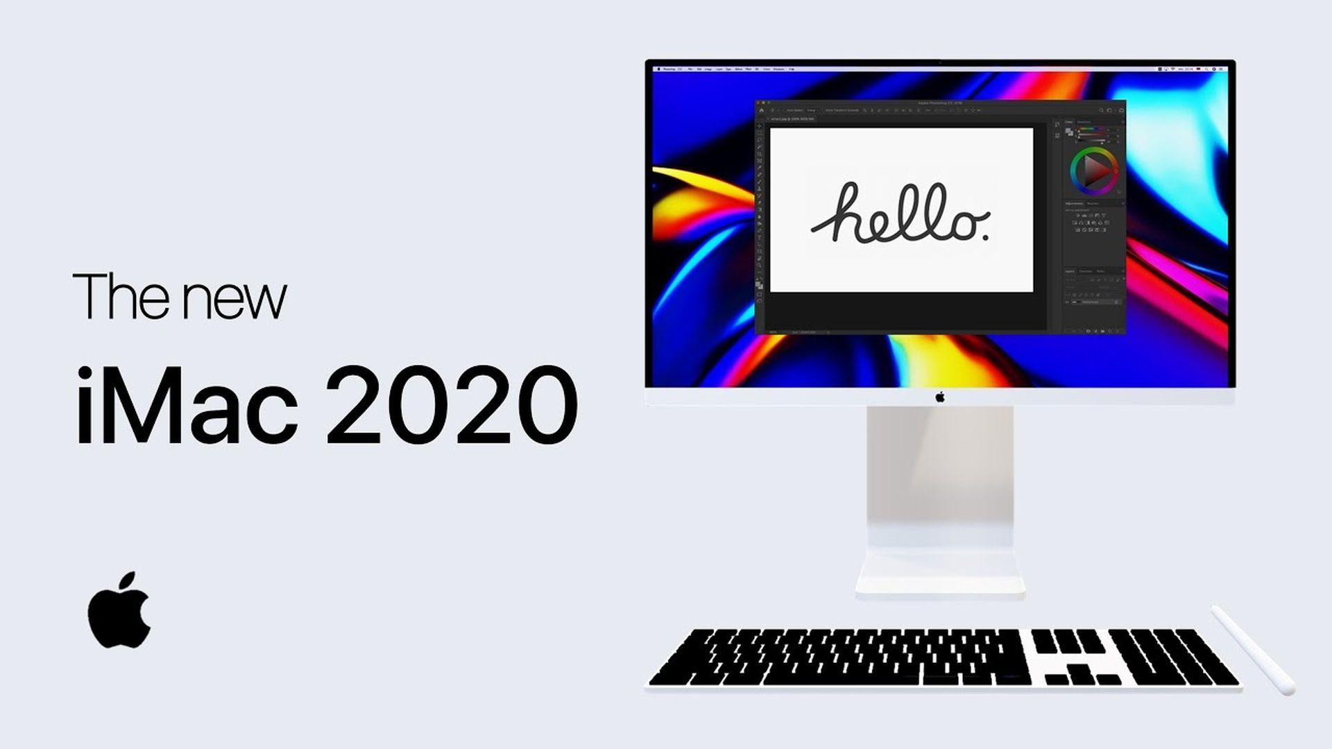 Koncepcyjna wizja nowego iMaca inspirująca się monitorem Pro Display XDR