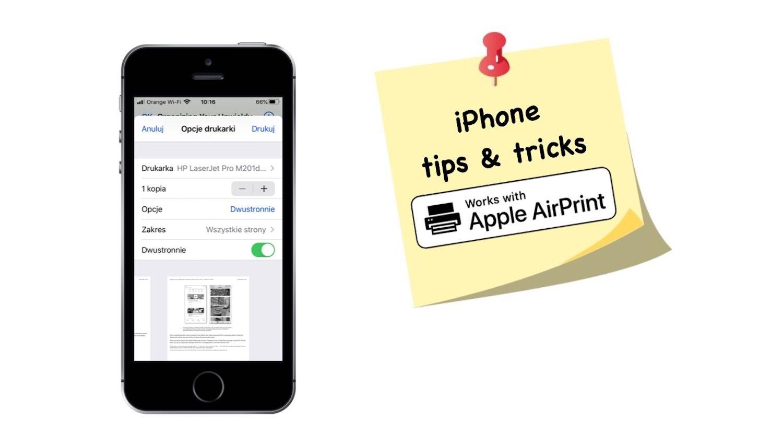 Jak drukować z iPhone'a za pomocą AirPrint
