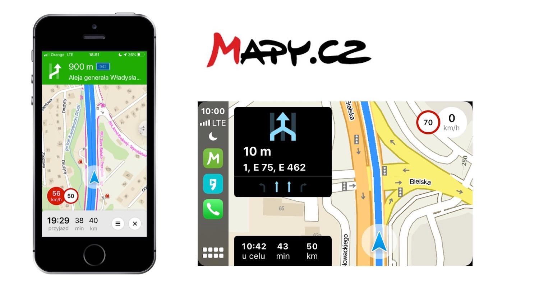 mapy.cz – darmowa nawigacja dla iOS i CarPlay