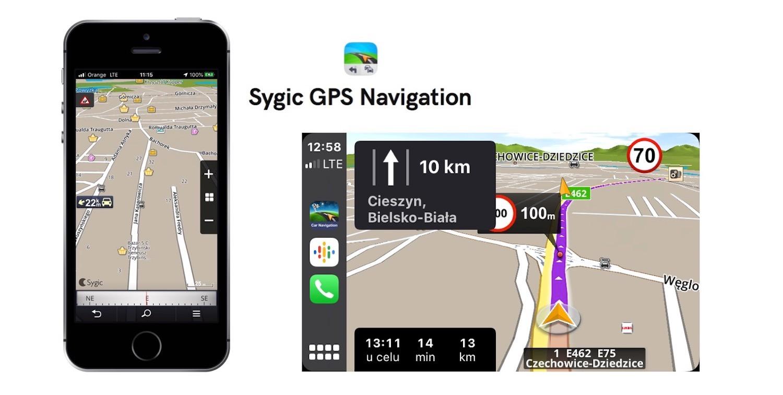 Aplikacja Sygic Car Navigation dla iOS i CarPlay