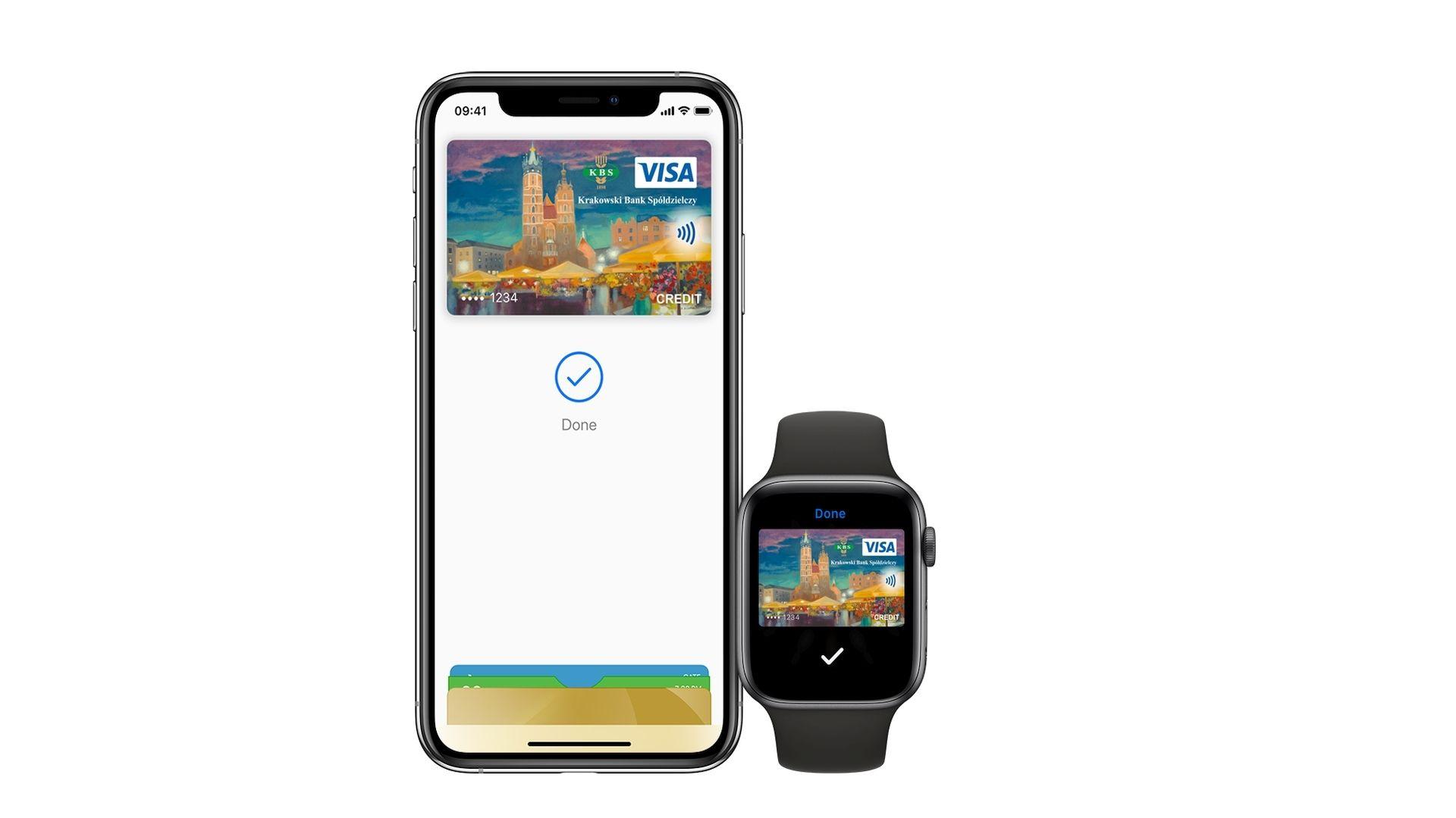 Dostępna usługa Apple Pay w Krakowskim Banku Spółdzielczym