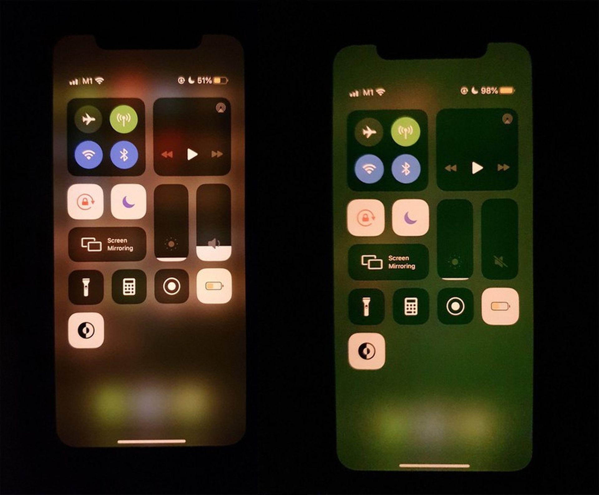 Niektóre egzemplarze iPhone'a 11 posiadają ekran o zielonym odcieniu