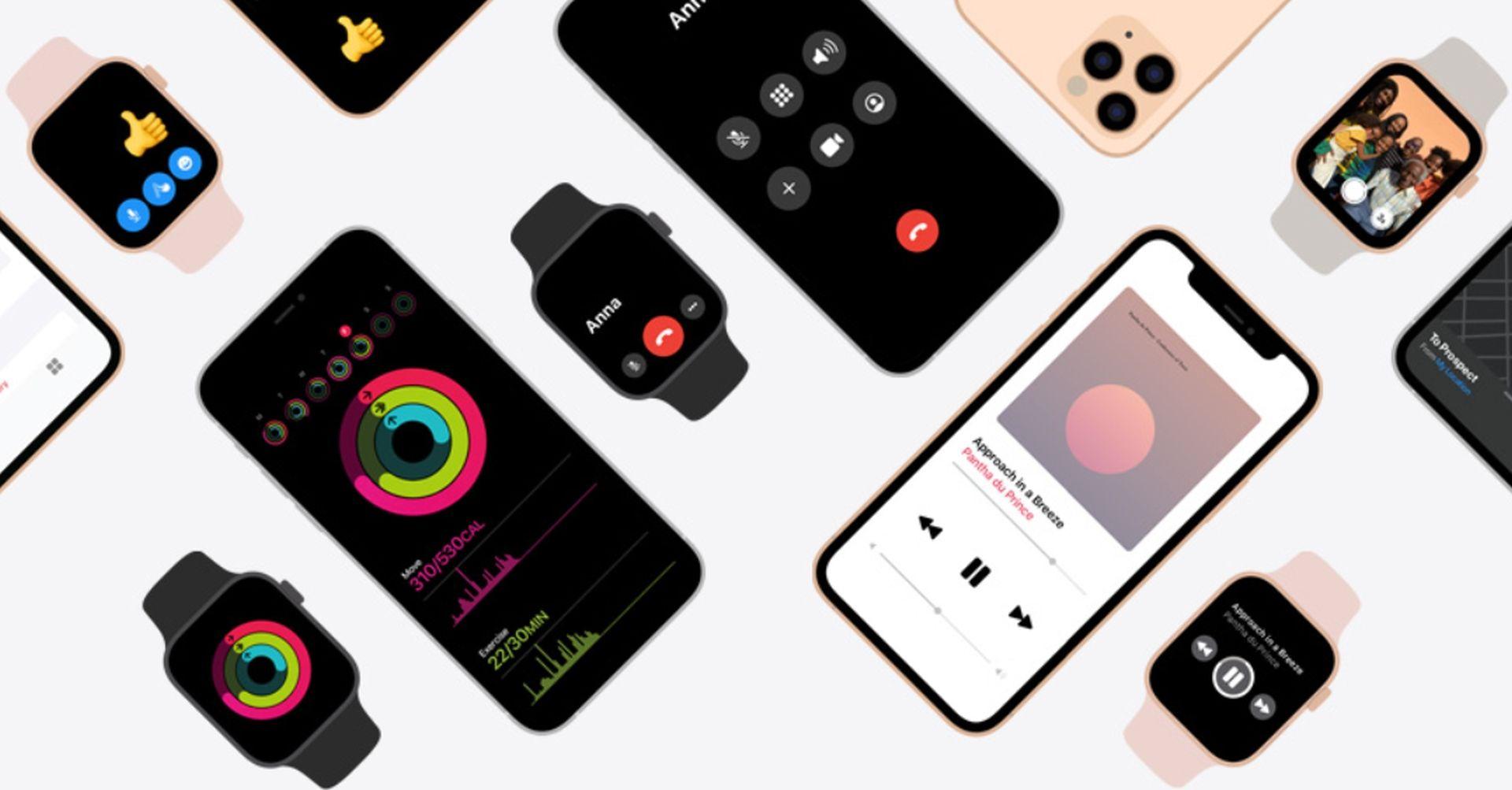 Strona prezentująca możliwości iPhone'a połączonego z Apple Watchem