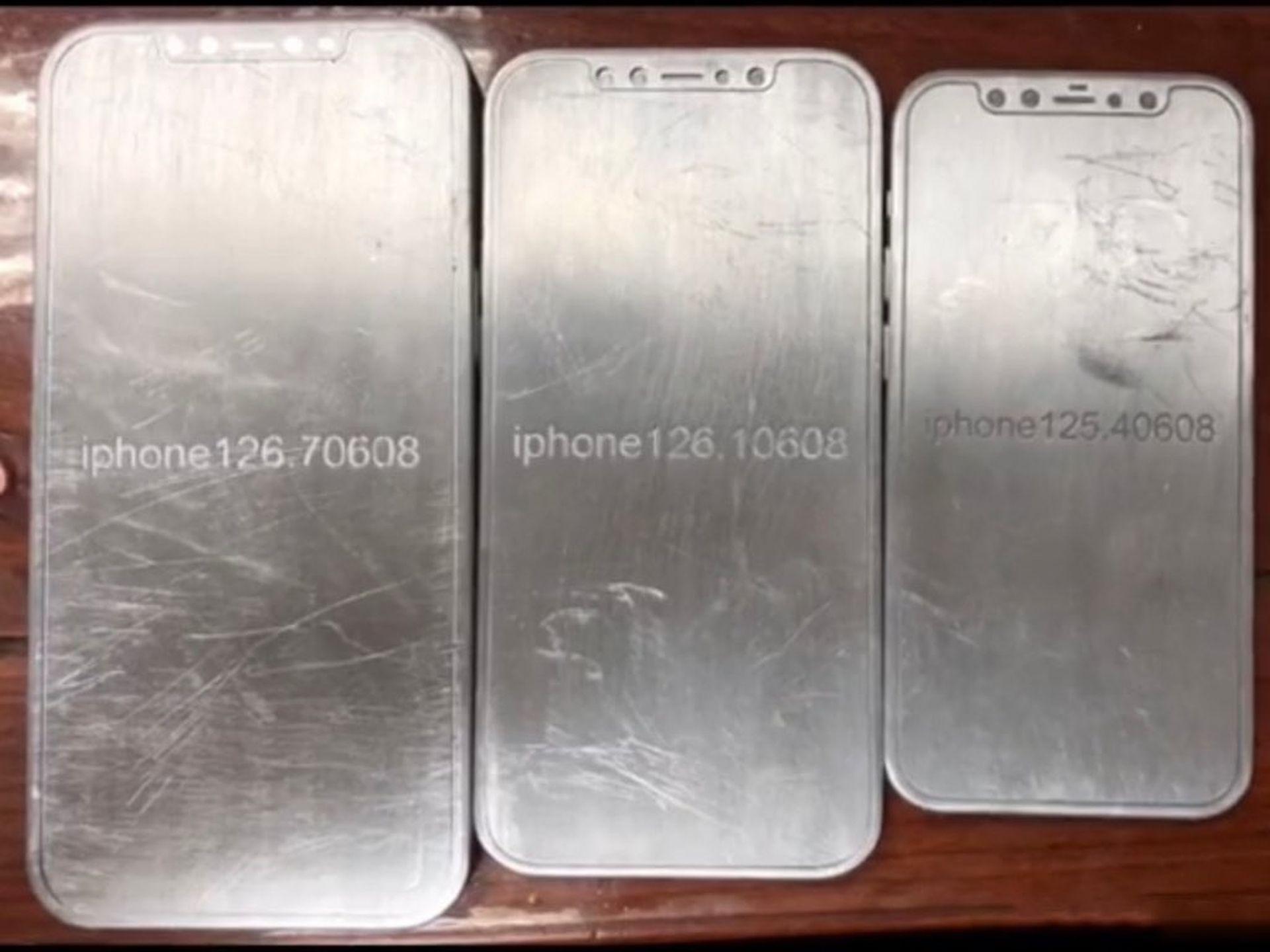 Zdjęcia przedstawiające rendery i odlewy wszystkich modeli iPhone'a 12