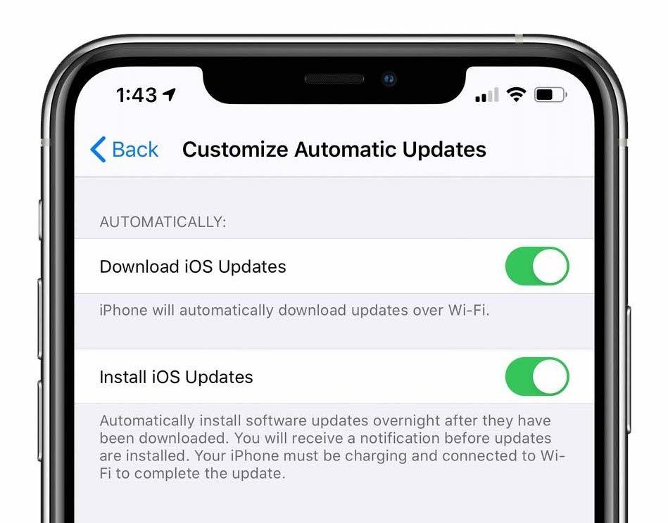 iOS 13.6 Beta dodaje przełącznik do wyłączania pobierania automatycznych aktualizacji iOS