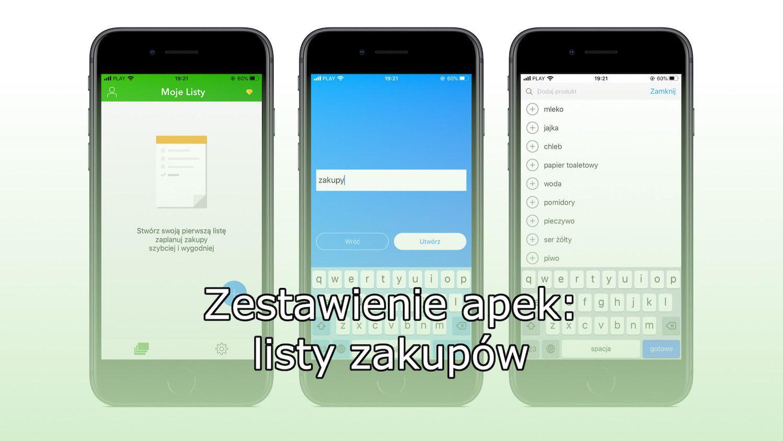 Aplikacje prosto z App Store, które zastąpią papierowe listy zakupów!
