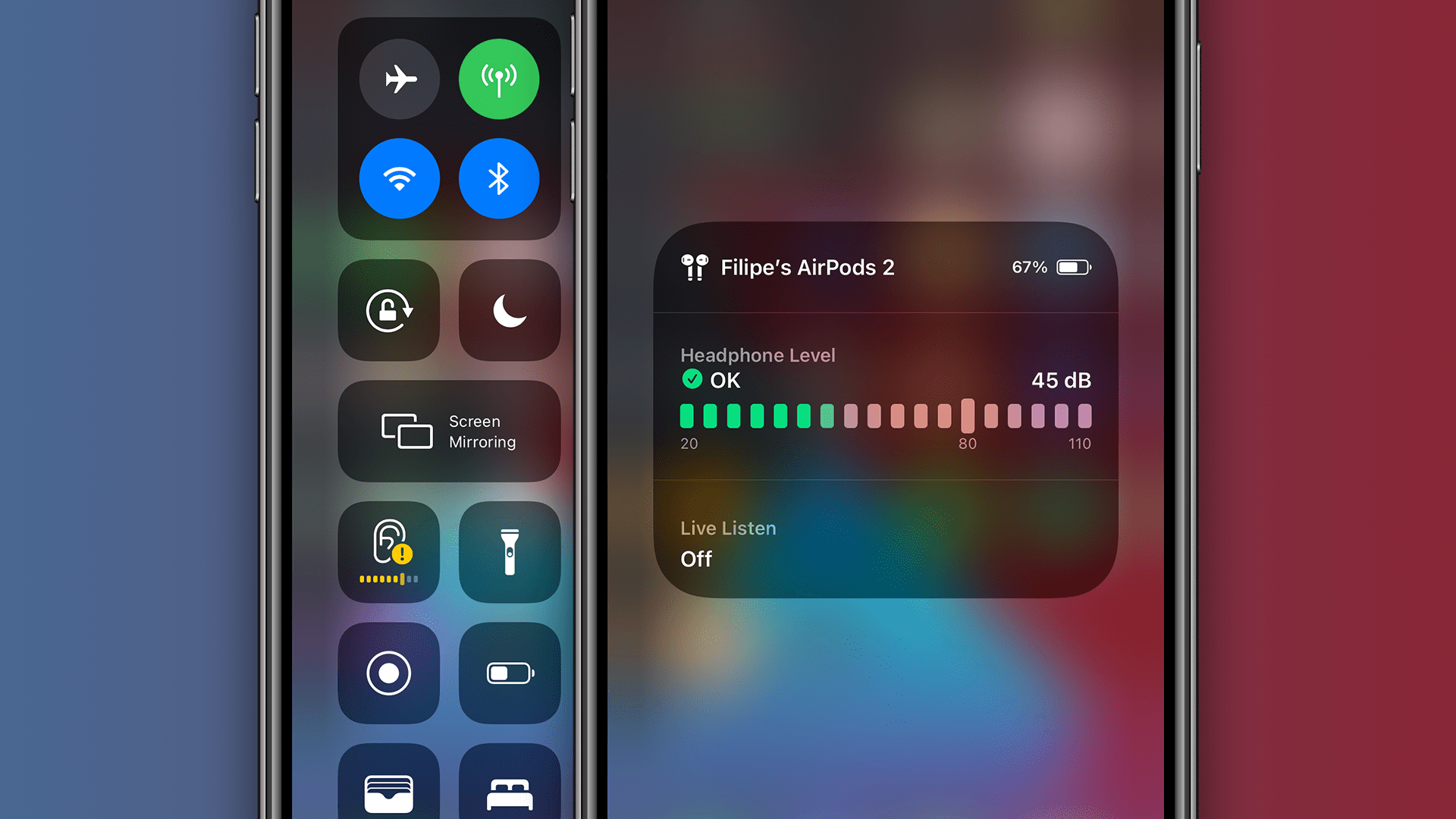 iOS 14 oferuje pomiar poziomu dźwięku w słuchawkach w czasie rzeczywistym