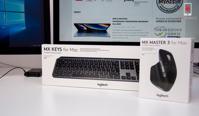 Recenzja klawiatury Logitech MX KEYS for Mac oraz myszy Logitech MX Master 3 for Mac