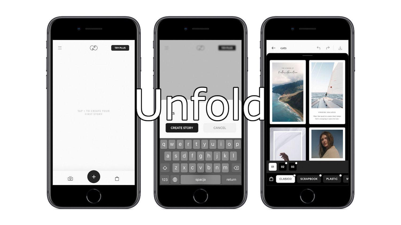 #55 Aplikacja tygodnia – Unfold. Nieziemskie szablony do Instagram Stories!