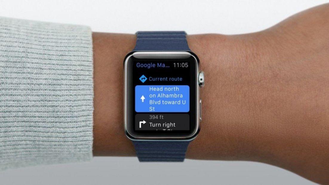 Mapy Google na Apple Watch są jużdostępne do pobrania App Store