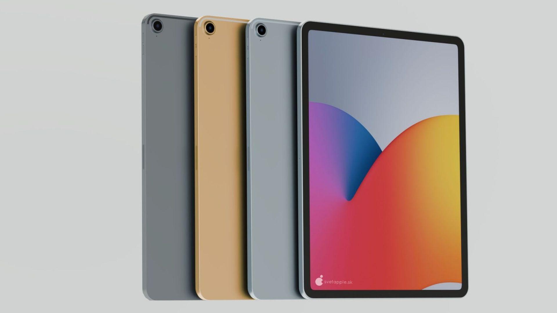 Koncepcyjna wizja iPada Air z funkcją rozpoznawania twarzy Face ID