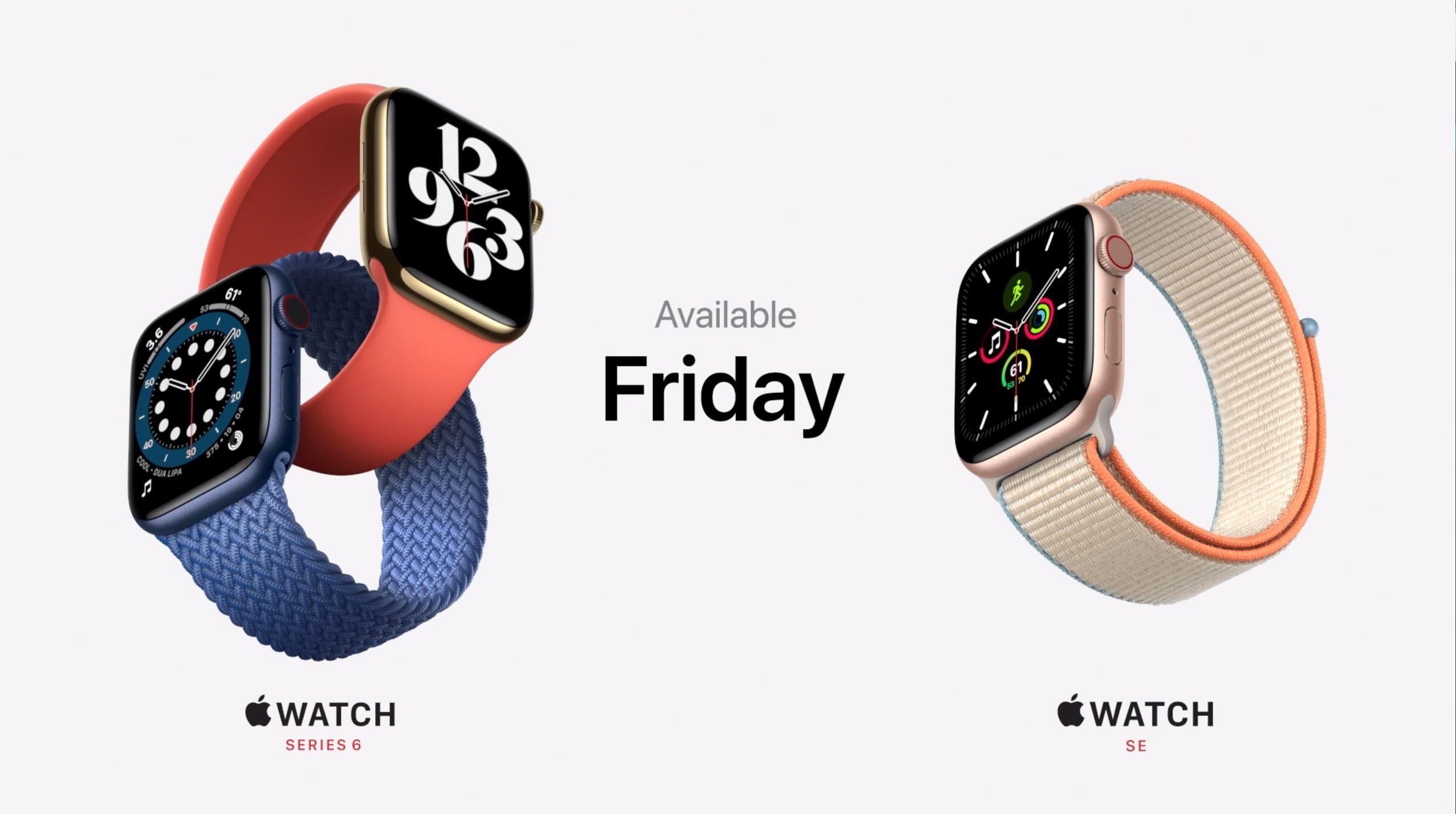 Apple Watch 6 oraz Apple Watch SE to nowe zegarki Apple. Oba z funkcja Apple Fitness+ i watchOS 7