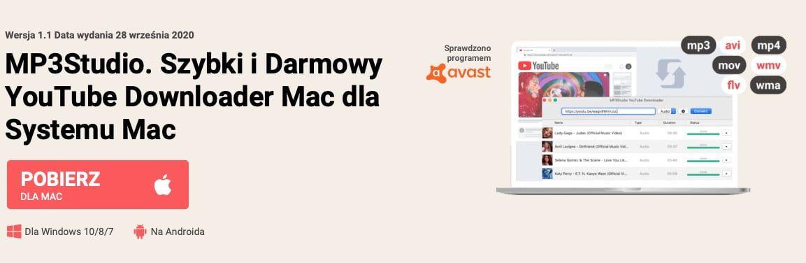Pobieranie filmów z YouTube na komputer Mac