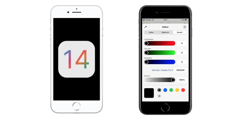 iOS 14 – nowy selektor kolorów