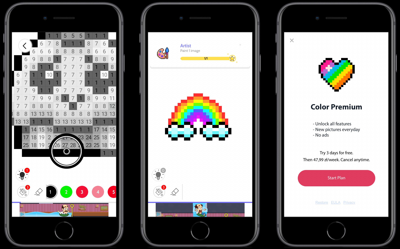 #64 Aplikacja tygodnia – Color Number. Kolorowanie na odstresowanie!