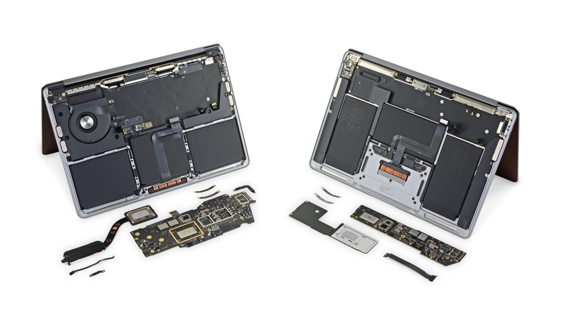 iFixit pokazuje wnętrze MacBooka Pro i Air z procesorem M1