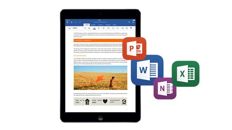 Microsoft aktualizuje aplikacjeWord i Excel dla iPada