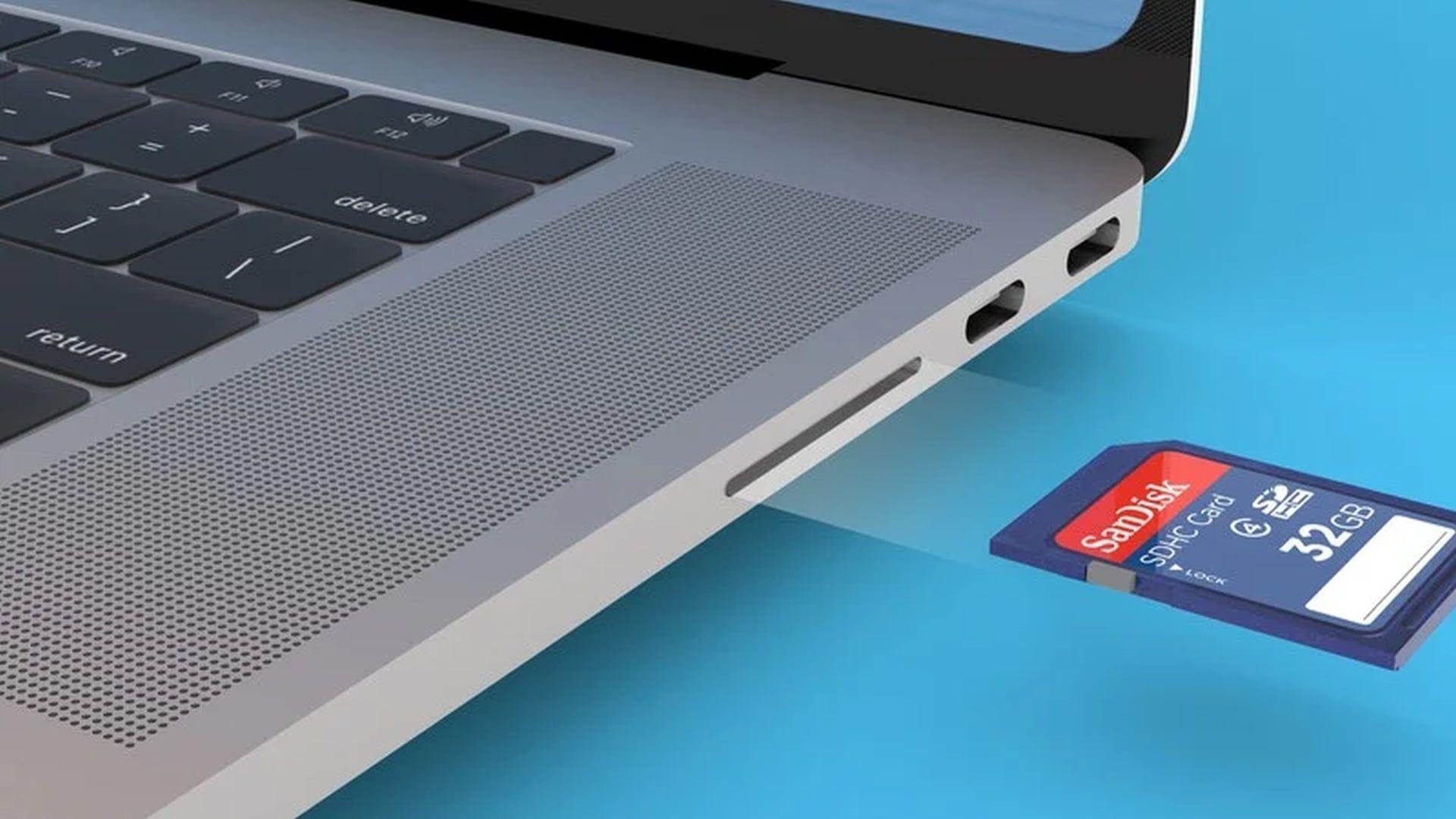 Czytnik kart pamięci w kolejnej generacji MacBooków Pro