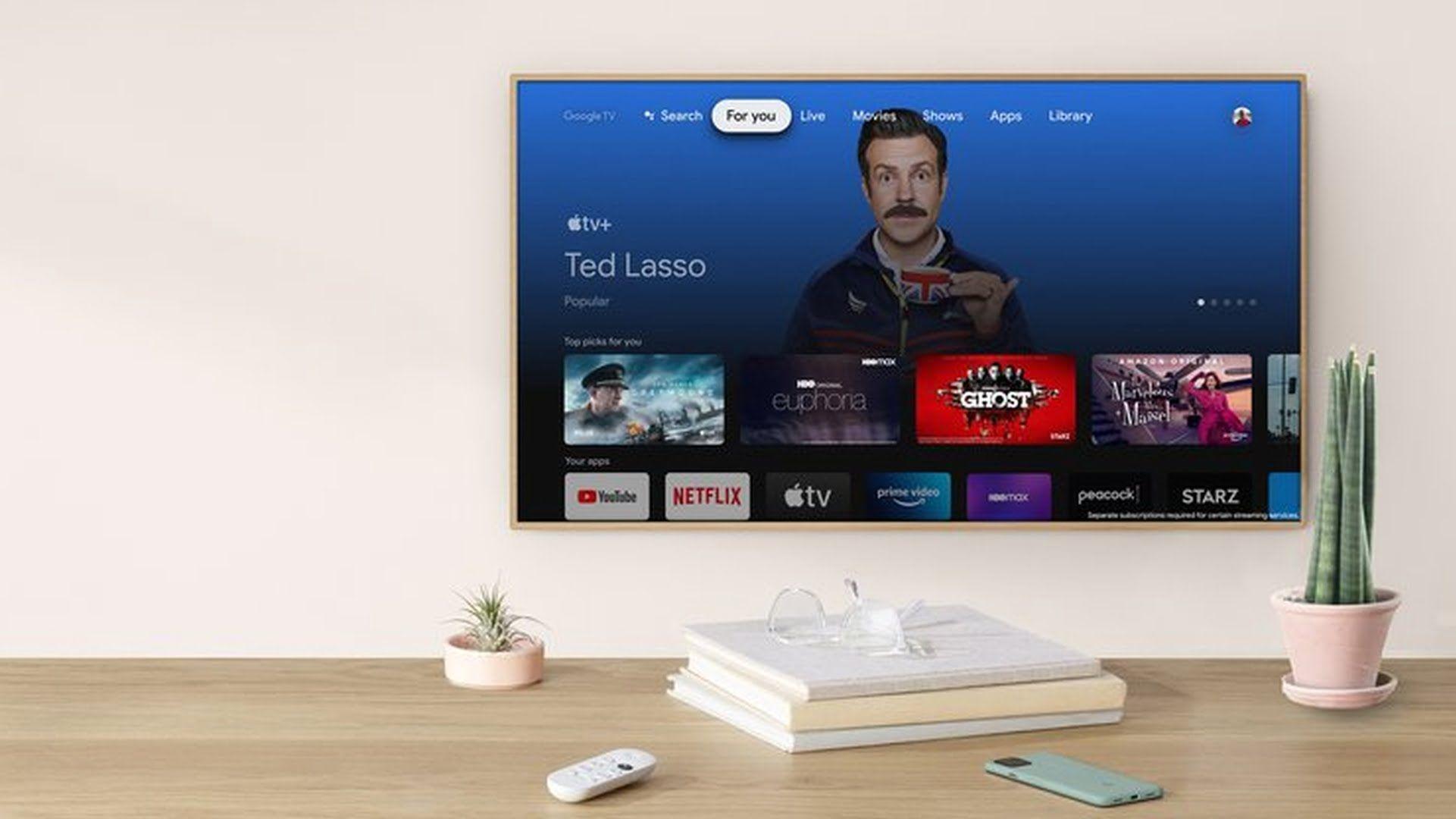 Google Chromecast z Google TV otrzymało aplikację Apple TV