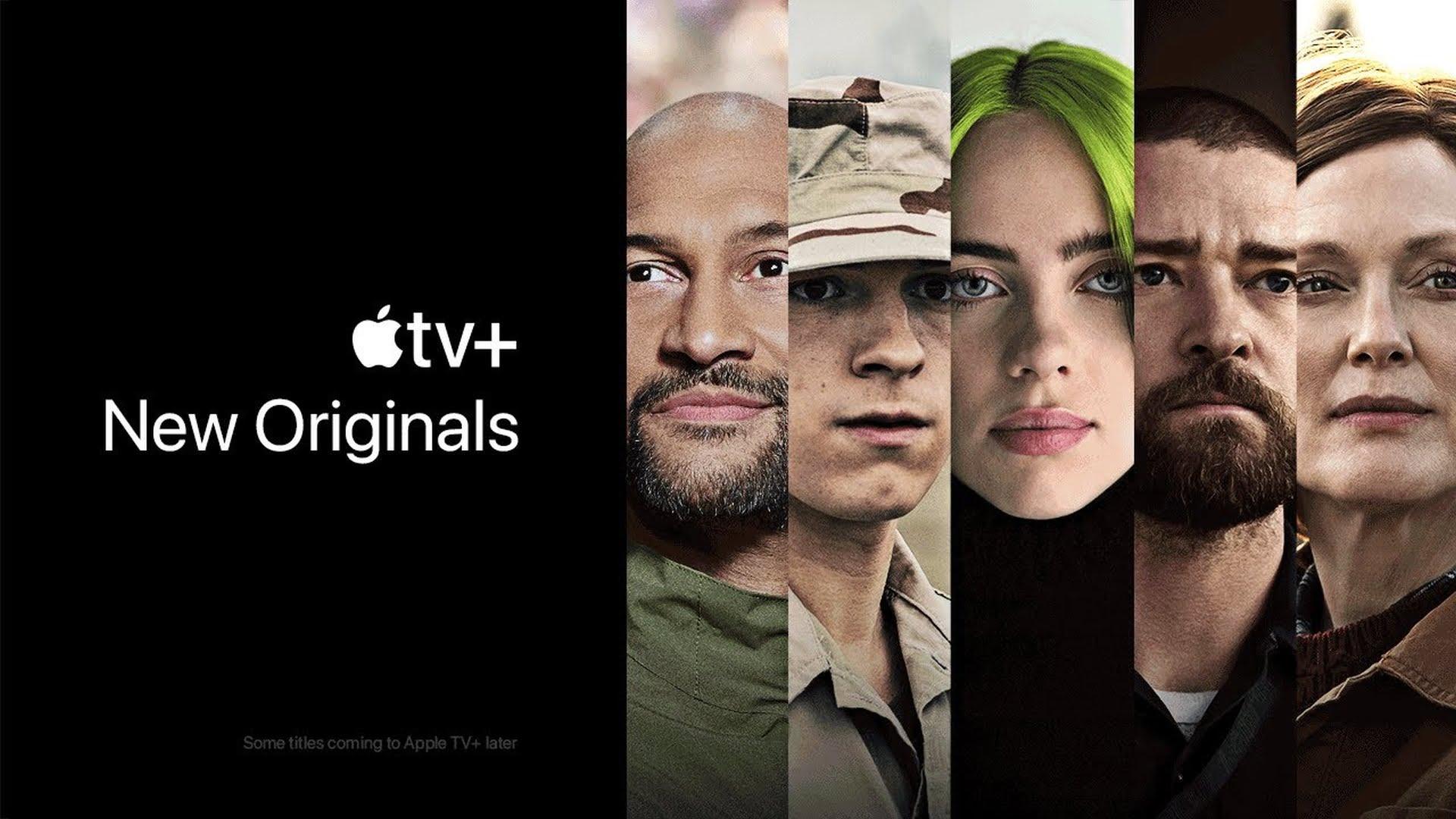 Reklama Apple TV+ prezentująca nowe seriale i filmy w 2021 roku
