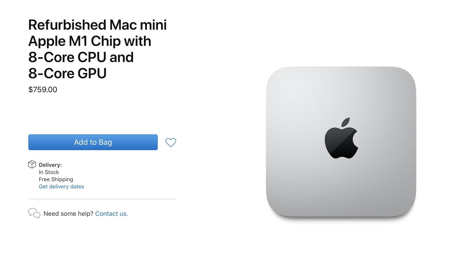 Apple rozpoczyna sprzedażodnowionego Mac'a mini z procesorem M1