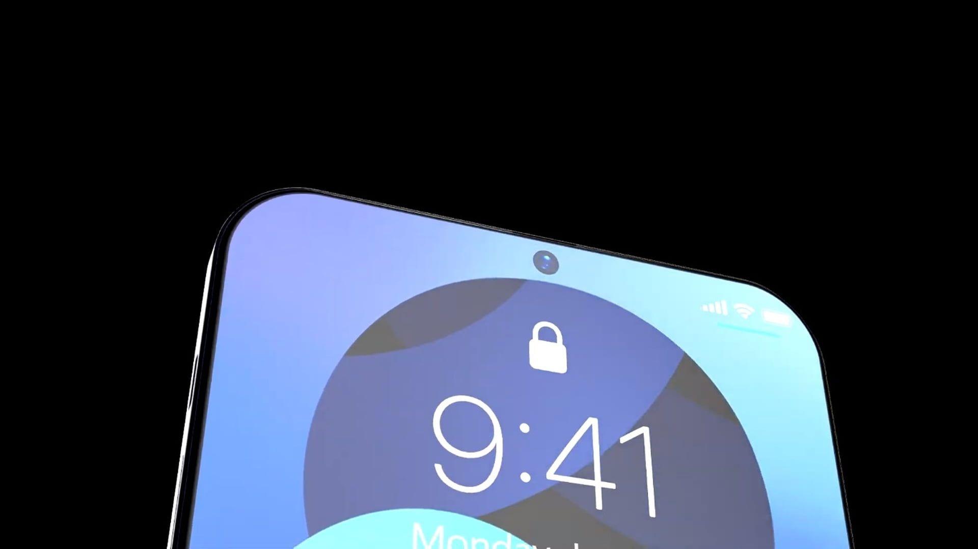 iPhone'y z otworem w ekranie na aparat mają się pojawić w 2022 roku