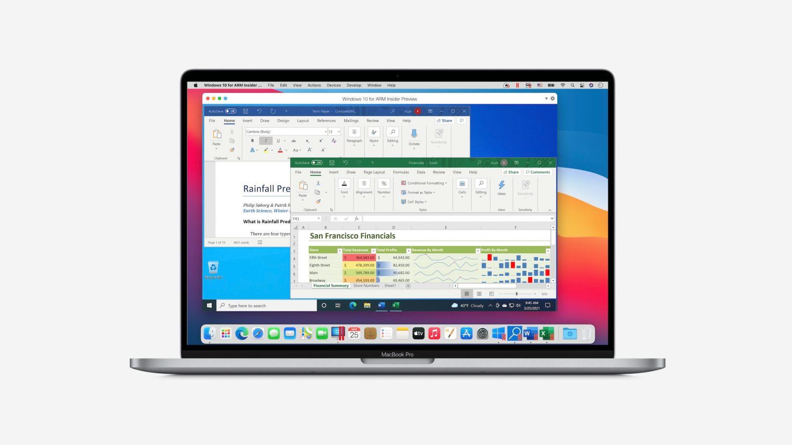 Parallels 16.5 może natywnie wirtualizować ARM Windows na M1 Mac z wydajnością do 30% wyższą