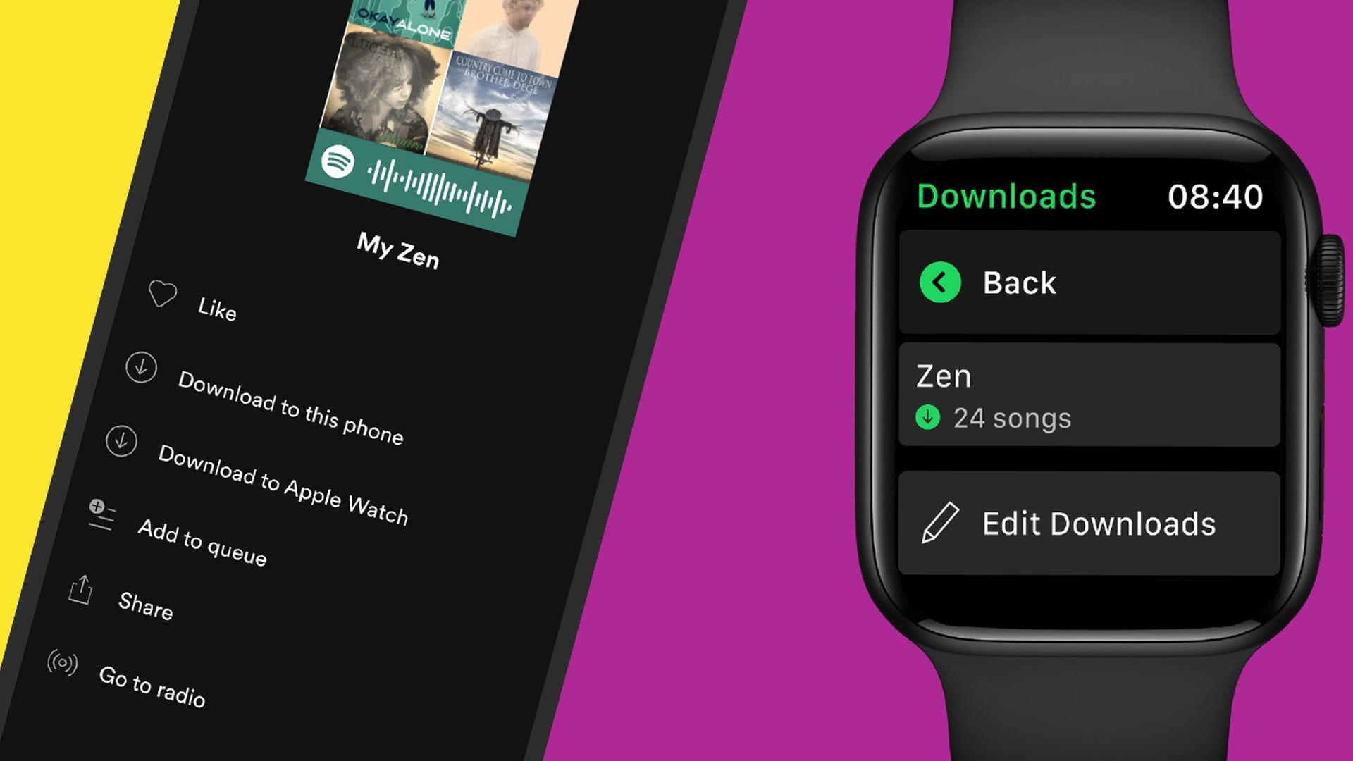 Spotify doda możliwość zapisywania utworów do Apple Watcha